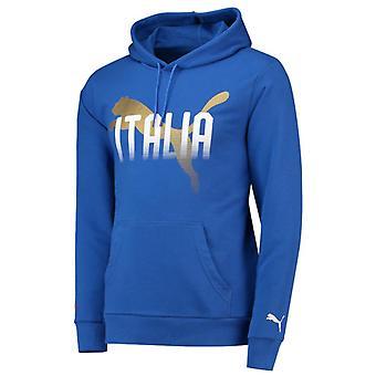 2018-2019 Italy Puma Fanwear Hoody (Blue)