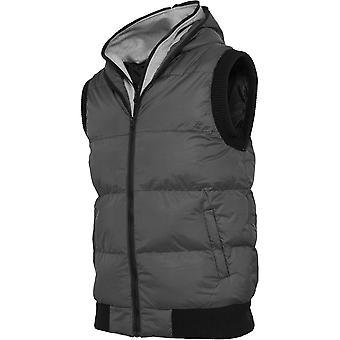 Urban classics - DOUBLE HOODED vest grey