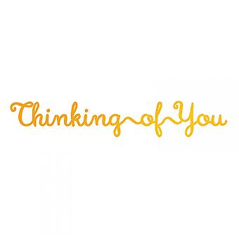 Couture Creations Ultimate Crafts Hotfoil Stamp Die Thinking Of You