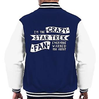 The Crazy Star Trek Fan Everyone Warned You About Men's Varsity Jacket