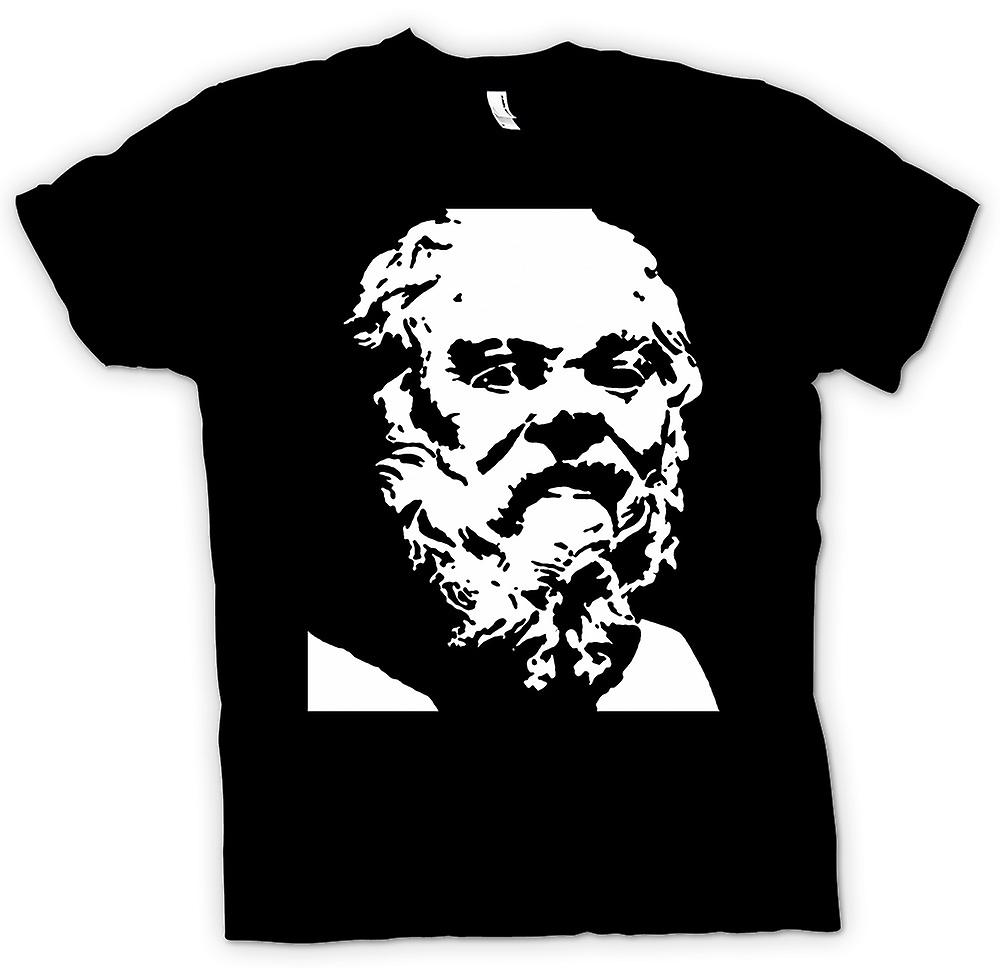 Kids T-shirt - Socrates - Stencil Icon