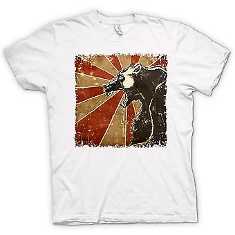 Womens T-shirt - Russian Bear - Cool Retro Poster