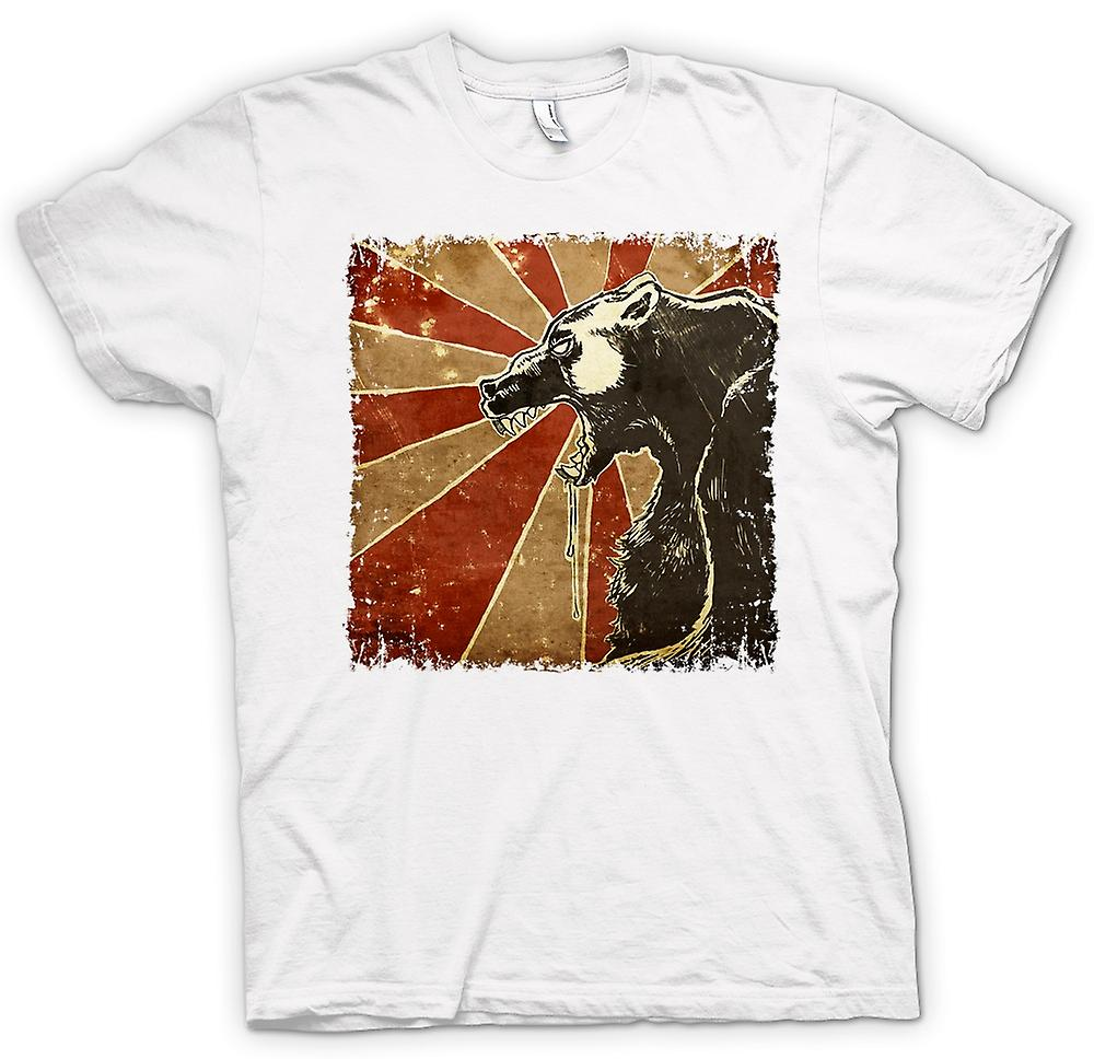 Womens T-shirt - Russian Bear - Cool Retro Poster