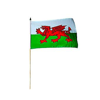 Wales aus Polyester Hand-Held-Flag