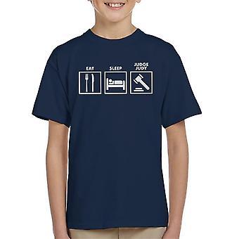 Eat Sleep Judge Judy Road Signs Kid's T-Shirt