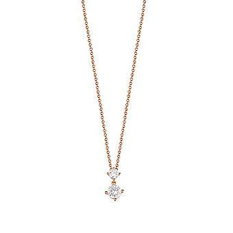 ESPRIT women's chain necklace silver Rosé cubic zirconia svelte sparkle ESNL92460C400