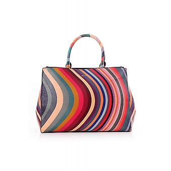 Paul Smith Accessories Womens Swirl Leather Zip Tote Bag