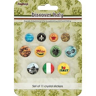 Scrapberry's Discover Italy Crystal Stickers-
