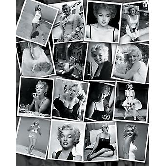 Marilyn Monroe Collage Poster Print von Sam Shaw (16 x 20)