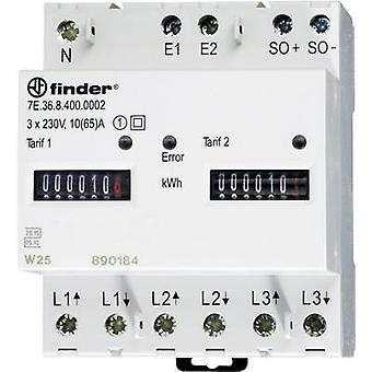 Finder 7E.36.8.400.0012 Electricity meter (3-phase) Mechanical 65 A MID-approved: Yes