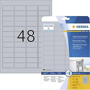 Herma 4221 Labels 45.7 x 21.2 mm Polyester film Si