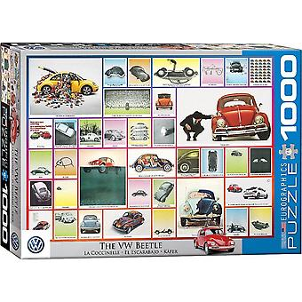 Vw Volkswagen Beetle Montage 1000 Piece Jigsaw Puzzle 680Mm X 490Mm