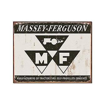 Massey Ferguson-Logo (grå) store forvitret metall tegn