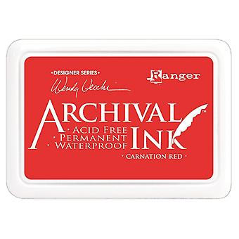 Wendy Vecchi Designer Series Archival Ink Pad-Carnation Red