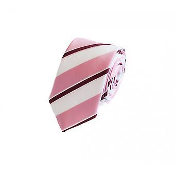 Cravatta cravatta cravatta cravatta rosa 6cm bianco rosso a strisce Fabio Farini