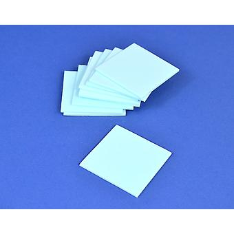 10 Light Blue Small Craft Foam Squares | Childrens Craft Foam