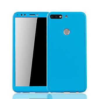 Huawei honor 7C case beschermende case full-cover bescherming glas licht blauwe tank