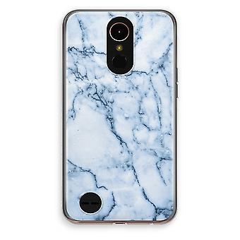LG K10 (2017) Transparent fodral (Soft) - blå marmor