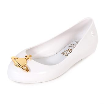 Mel Dreamed By Melissa Kids Vivienne Westwood Space Love Orb Flat White-White-13