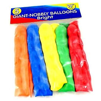 5 Giant Nobbly Balloons 36