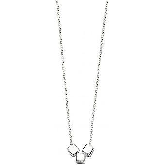 Beginnings Triple Cube Slider Necklace - Silver