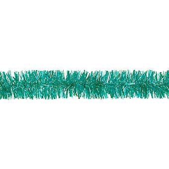 SALE - Jade Green Tinsel Christmas Tree Decoration - 2m