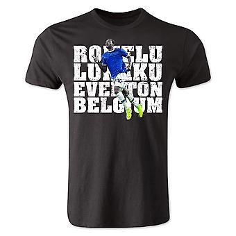 Camiseta de jugador de Everton de Romelu Lukaku (negro)