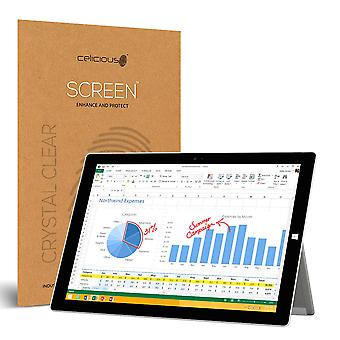 Celicious Vivid Invisible Glossy HD Screen Protector Film Compatible with Microsoft Surface Pro 3 [Pack of 2]