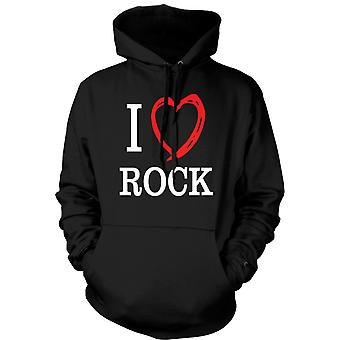 Kids Hoodie - I Love Rock Music Band - Quote