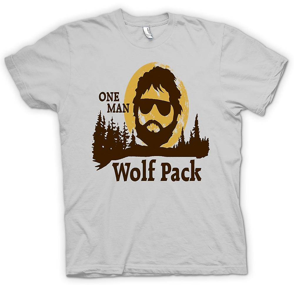 Hommes T-shirt - The Hangover One Man Wolf Pack - Drôle