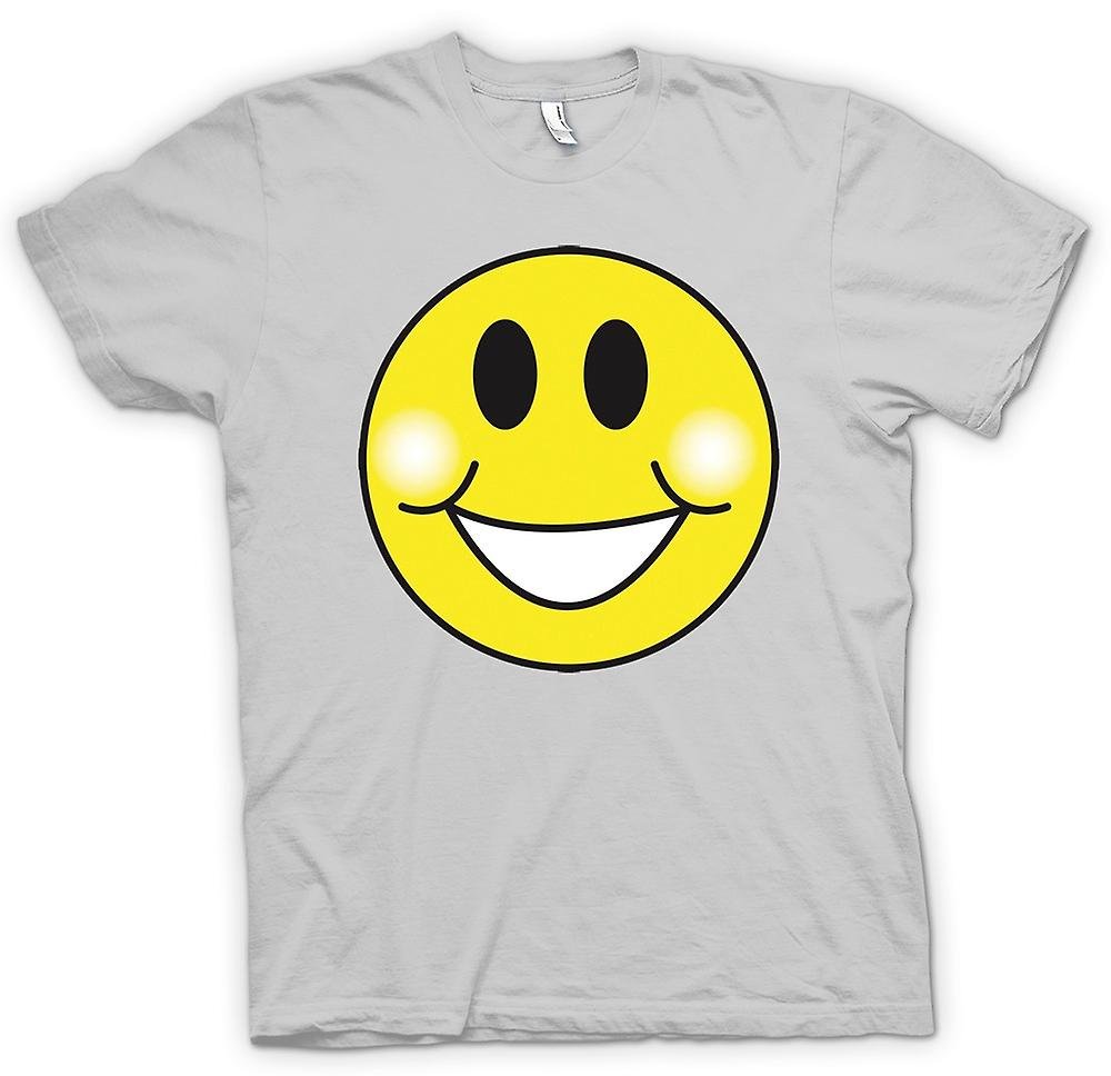 Mens T-shirt - Smiley-Gesicht - Pausbacken - Acid-House