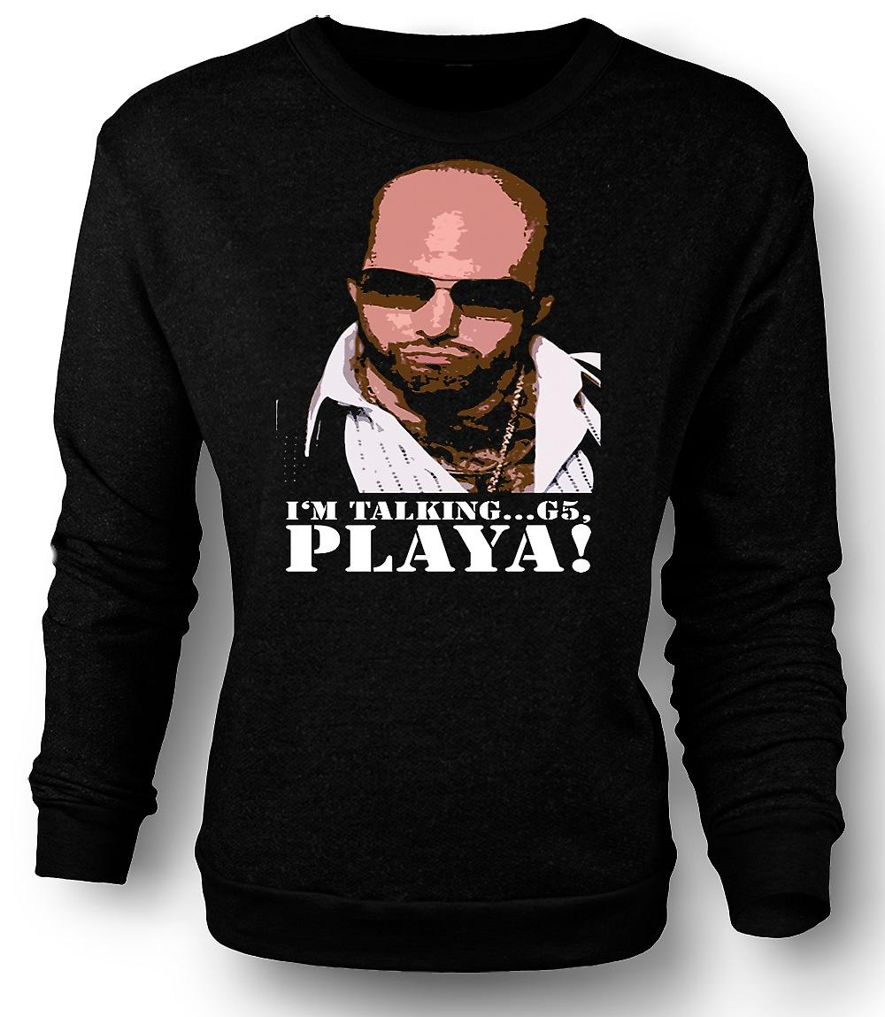 Mens Sweatshirt Tropic Thunder Playa - Grossman - Funny