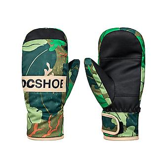 DC Chive Leaf Camo Franchise Kids Snowboarding Mittens