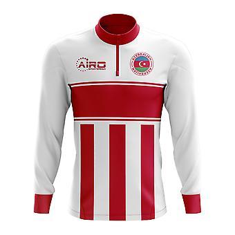 Azerbaijão conceito futebol meia Zip Midlayer Top (branco-vermelho)