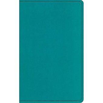 Bolso de colete ESV novo testamento com salmos e provérbios (Trutone, verde-azulado)