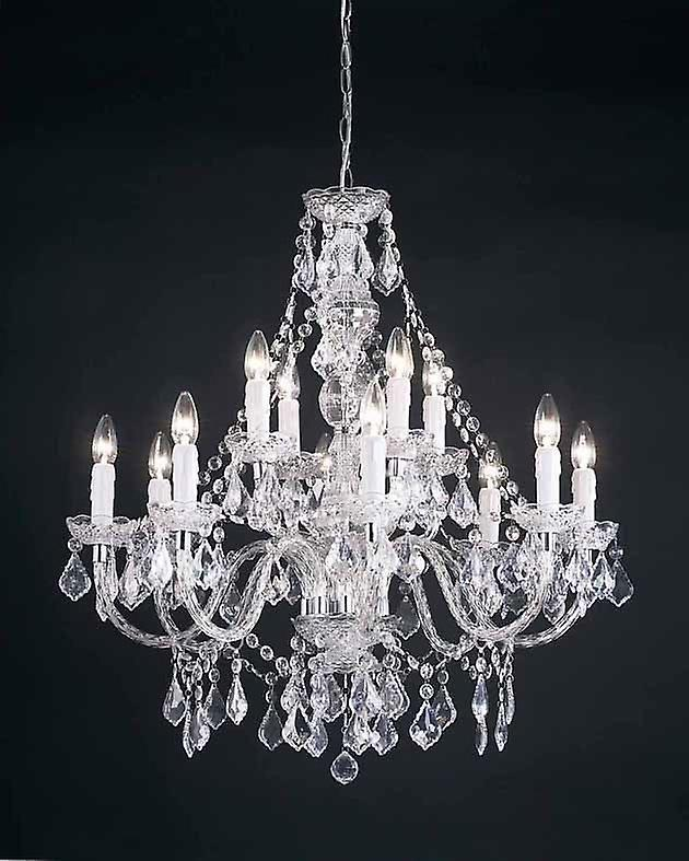 Clarence Indoor Ceiling Pendant - Endon 308-8+4CL