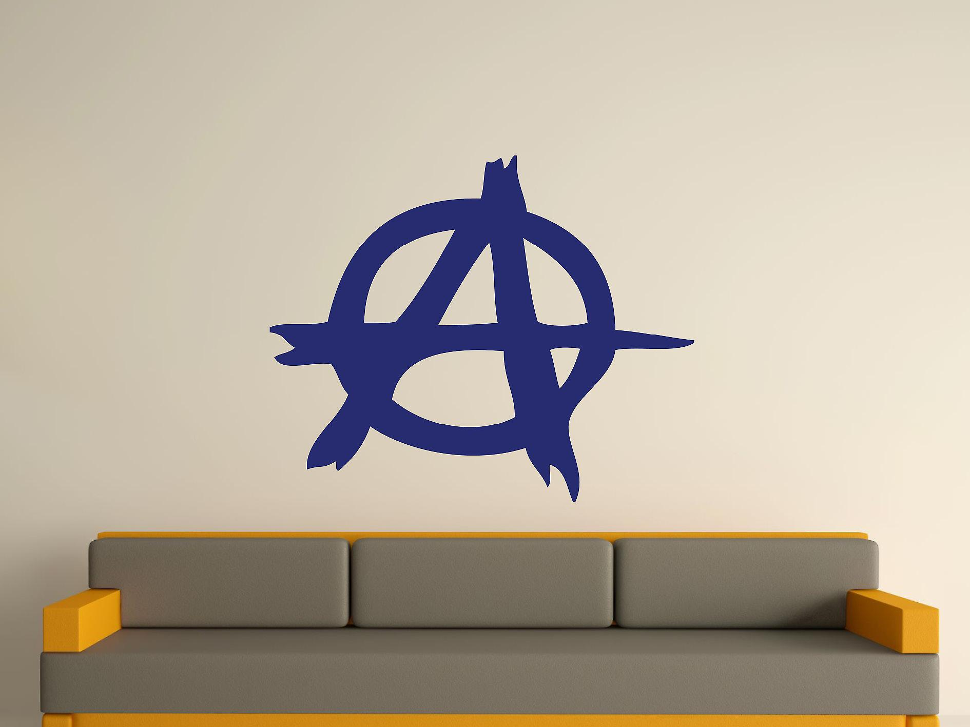 Anarchy Symbol Wall Art Sticker - Ultra Blue