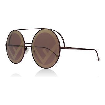Fendi FF0285/S P68 Black Cherry FF0285/S Round Sunglasses Lens Category 2 Size 63mm