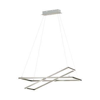 Eglo - Tamasara LED colgante de techo grande en níquel satinado y acabado en blanco EG96815
