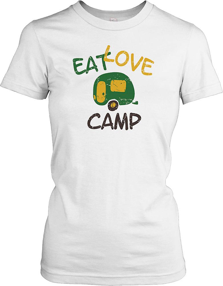 Eat Love Camp - Funny Ladies T Shirt