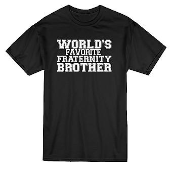 World's Favorite Fraternity Brother Graphic Men's Black T-shirt