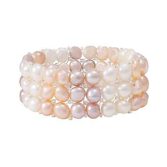 Ewige Sammlung Tricot Multi Farbe Süßwasser Perle Stretch Armband