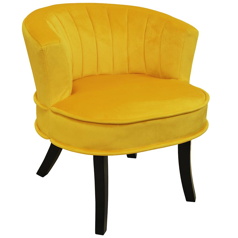 ClamDesigner Yellow Shell Occasional Curved Chair Back Accent E29IYDWH