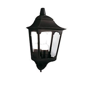 Elstead CP7/2 BLACK Chapel Traditional Outdoor Half Wall Lantern with 10 yr Warranty