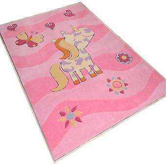 Rugs -Children\'s Pink Pony Rose - 3034