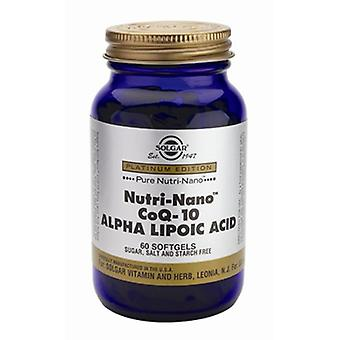 Solgar Nutri-Nano Co-Q10 ALA Softgels, 60
