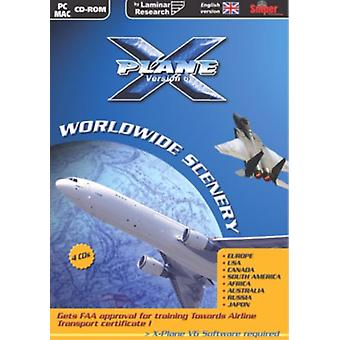 X-Plane verdensomspændende sceneri version 6 (MacPC CD)-fabriks forseglet