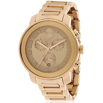 Movado Bold Rose Gold Ion Chronograph Ladies Watch 3600210