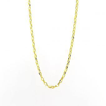 Evighet 9ct vitguld guld 18 ' ' oval Diamond Cut Belcher kedja