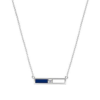 Toronto Maple Leafs - Diamond Bar Necklace In Blue And White